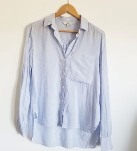 Next light and airy striped button down shirt